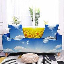 Sofa Covers Blue Sky Sunflower Sofa Cover Soft