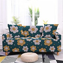 Sofa Covers Cyan Yellow Flower Sofa Cover Soft