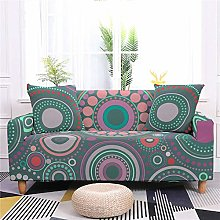Sofa Covers for Leather Sofa, Colorful Circles