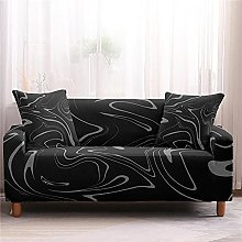 Sofa Covers for Leather Sofa, Modern Black Marble