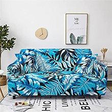 Sofa Covers For Leather Sofa,Modern Blue Palm Leaf