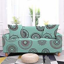 Sofa Covers for Leather Sofa, Retro Blue Abstract