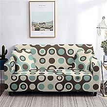Sofa Covers for Leather Sofa, Teal Circle