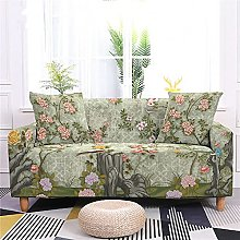 Sofa Covers for Leather Sofa, Vintage Green Peony