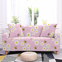 Sofa Covers Pink Daisy Bee Sofa Cover Soft Spandex