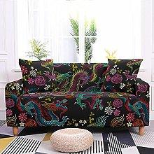 Sofa Covers Purple Flower Dragon Sofa Cover Soft