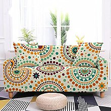 Sofa Covers Slipcover Colorful circle flower dots