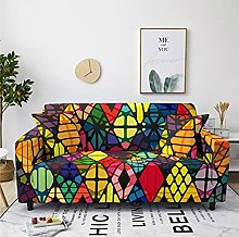 Sofa Covers Slipcover Colorful geometric pattern