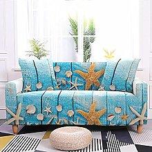Sofa Covers Starfish Shell Blue Sofa Cover Soft