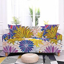 Sofa Covers Yellow Purple Pink Flower Sofa Cover