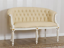 Sofa Isabelle Decape Baroque style 2 seats ivory
