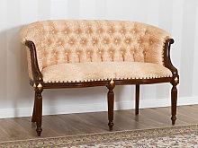 Sofa Isabelle English Baroque style 2 seats walnut