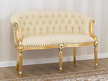 Sofa Isabelle French Baroque style 2 seats gold