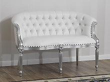 Sofa Isabelle Modern Baroque style 2 seats silver