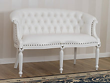 Sofa Isabelle Modern Baroque style 2 seats white
