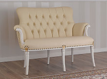 Sofa Katrin Decape Baroque style ivory and gold