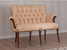 Sofa Katrin English Baroque style walnut and gold