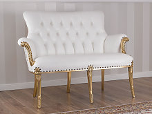 Sofa Katrin French Baroque style gold leaf faux