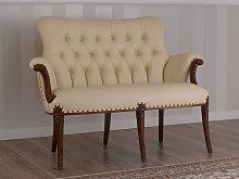 Sofa Katrin Italian Baroque style walnut faux