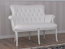 Sofa Katrin Modern Baroque style white lacquered