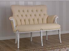 Sofa Katrin Shabby Chic style antique white faux
