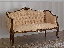Sofa Megan English Baroque style walnut and gold