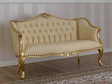 Sofa Megan French Baroque style gold leaf faux