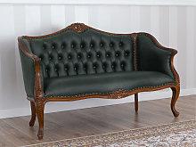 Sofa Megan Italian Baroque style walnut faux
