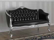 Sofa Megan Modern Baroque style silver leaf faux
