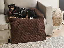Sofa Pet Bed Brown Polyester Dog or Cat Bed Couch