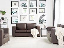 Sofa Set Suite 3+2+1 Brown Split Leather