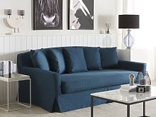 Sofa Slipcover Navy Blue Polyester Fabric for 3