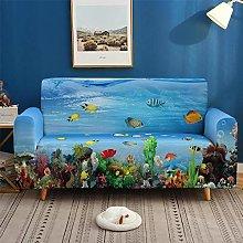 Sofa Slipcovers 1 Seater Blue Underwater World