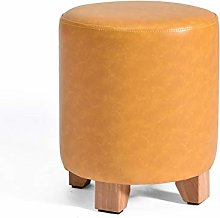 Sofa Stool Foot Stool Leather with Lid Round