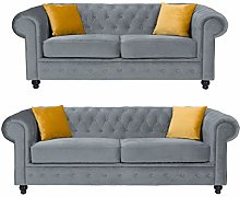 Sofas and More Hilton Chesterfield style Grey