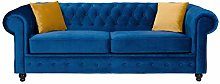 Sofas and More Hilton Chesterfield style Sofa Navy