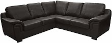 Sofas and More LUXURY AMY FAUX LEATHER CORNER