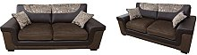 SOFASANDMORE Harmony 3+2 Seater Sofa Set Brown
