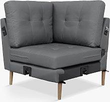 Sofi Modular Sofa Corner Seat Unit, Dark Leg,