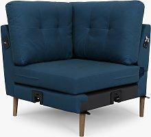 Sofi Modular Sofa Corner Seat Unit, Dark Leg, Navy