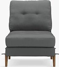 Sofi Modular Sofa Seat Unit, Dark Leg, Charcoal