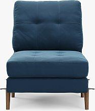 Sofi Modular Sofa Seat Unit, Dark Leg, Navy Velvet