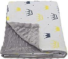 Soft Baby Receiving Swaddle | Warm Plush Fleece