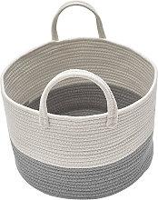 Soft Basket Hamper Woven Storage Bucket Bin Box for Nursery Laundry Toys Clothes