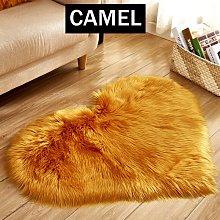 Soft Carpet Area Rug Floor Heart Shape Mat Sofa