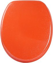 Soft Close Round Toilet Seat Sanilo Colour: Orange