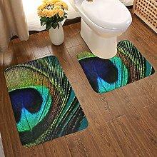 Soft Comfort Flannel Bathroom Rug Mats Boho Chic