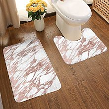 Soft Comfort Flannel Bathroom Rug Mats Chic