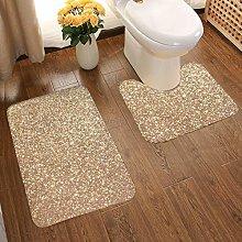 Soft Comfort Flannel Bathroom Rug Mats Copper Rose