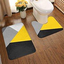 Soft Comfort Flannel Bathroom Rug Mats Simple